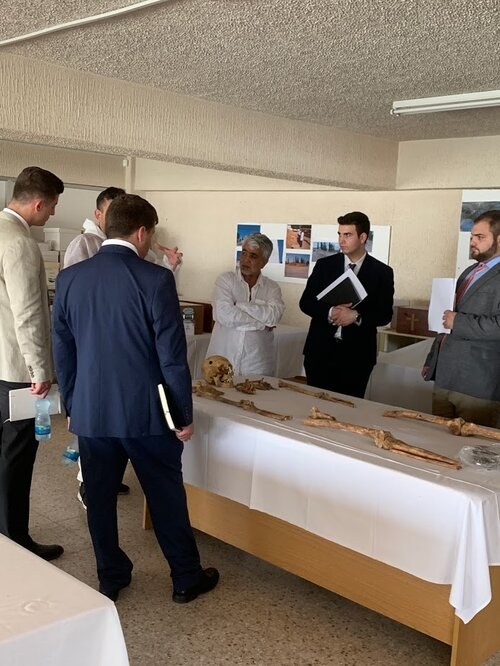 Visit to the Anthropological Laboratory of the Republic of Cyprus and being briefed by the Director of the Service for Missing Persons, Mr. Xenophon Kallis