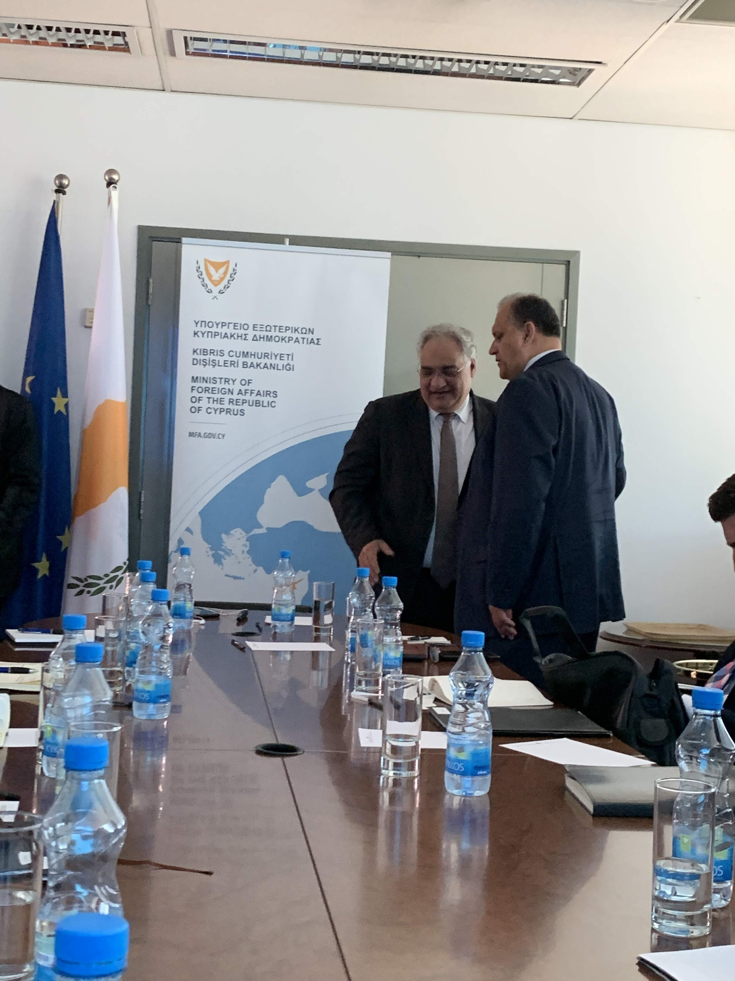 Meeting With the Director of Hydrocarbon Service Stelios Nikolaides