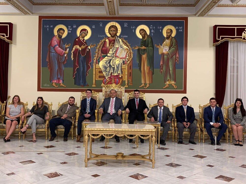 Awaiting His Beatitude, the Archbishop of Cyprus Chrysostomos II, at the Holy Archbishopric of Cyprus