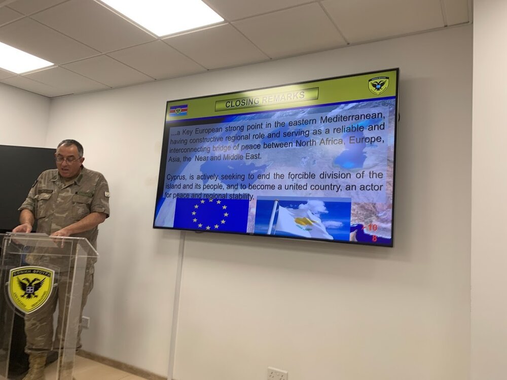 Briefing At the Ministry of Defense of the Republic of Cyprus