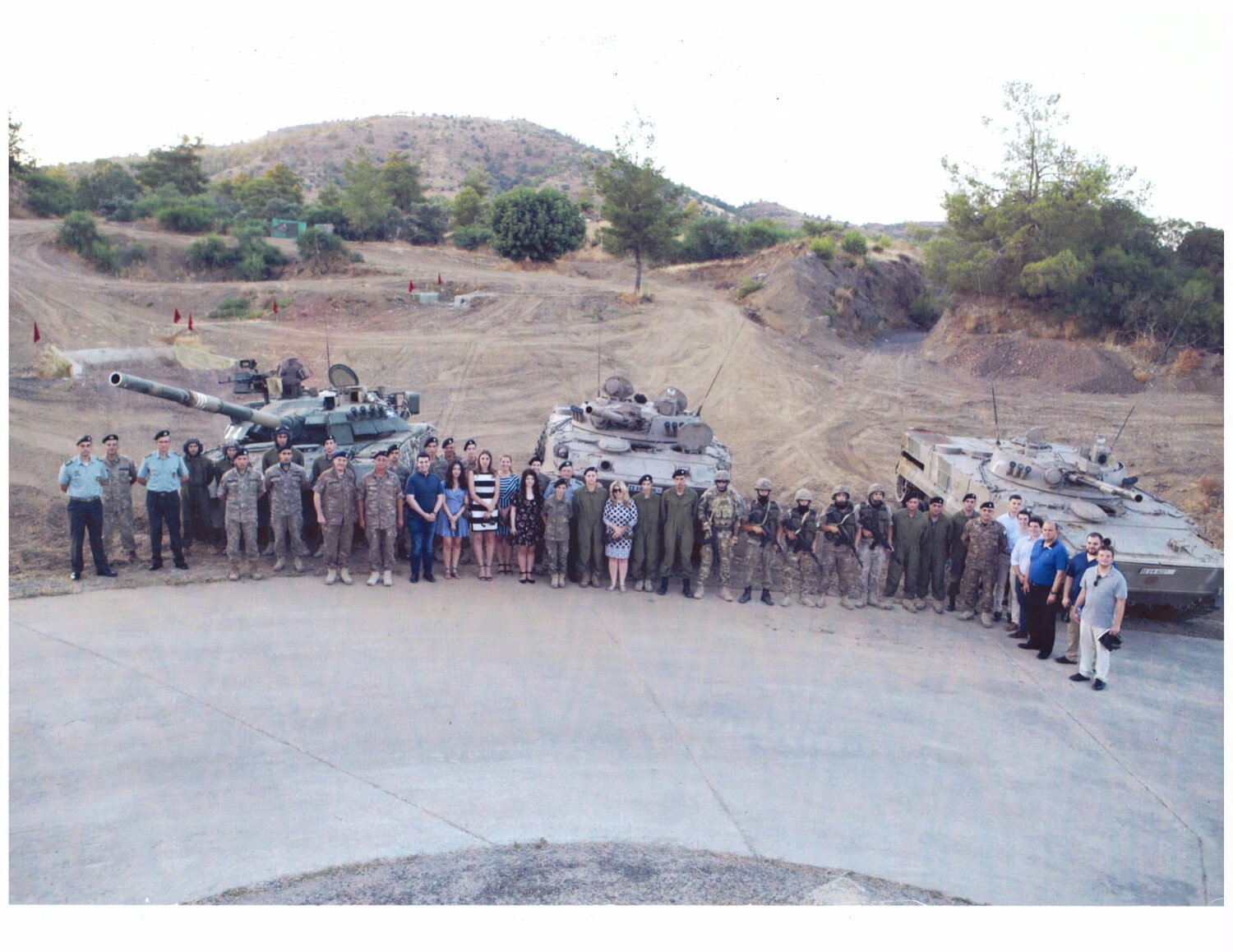 Group photo at 20th Armored Brigade