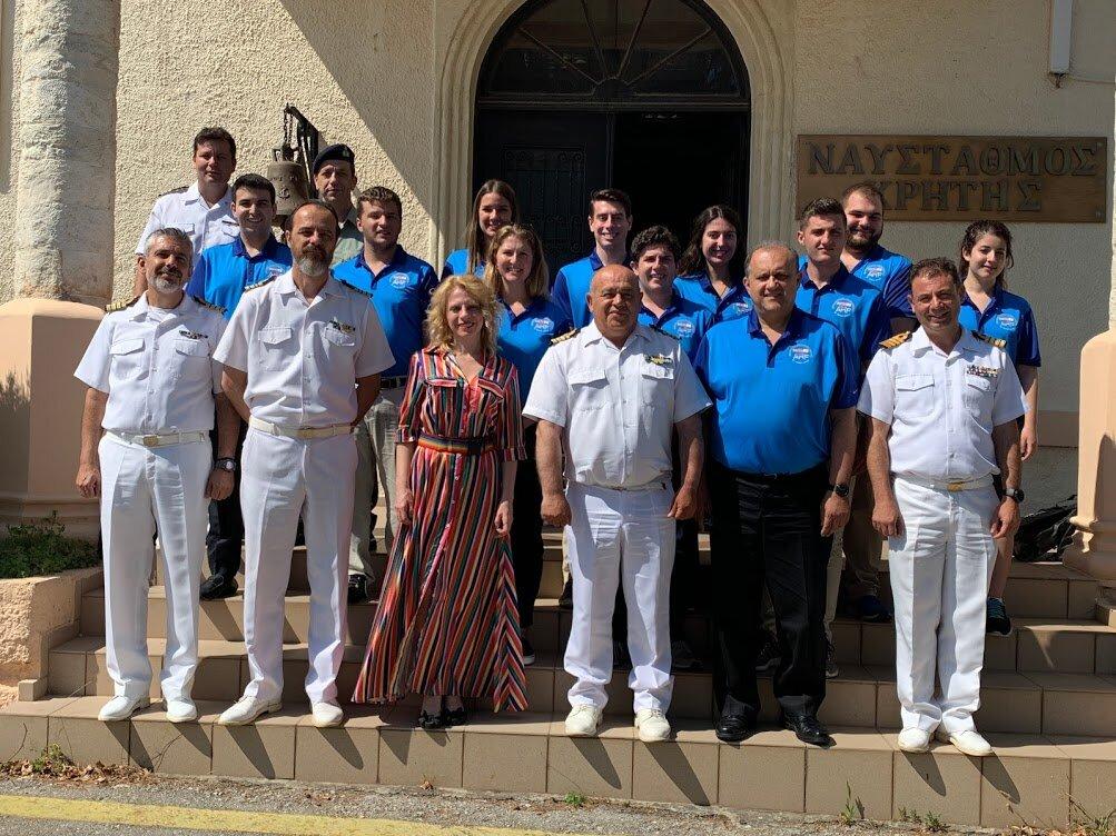 Outside Souda Bay Greek Naval Base Headquarters