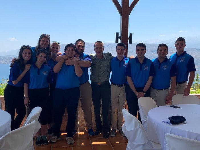 "With military escort Manolis Ntoukakis at NAMFI's Officer's Club ""ASTERIA"""