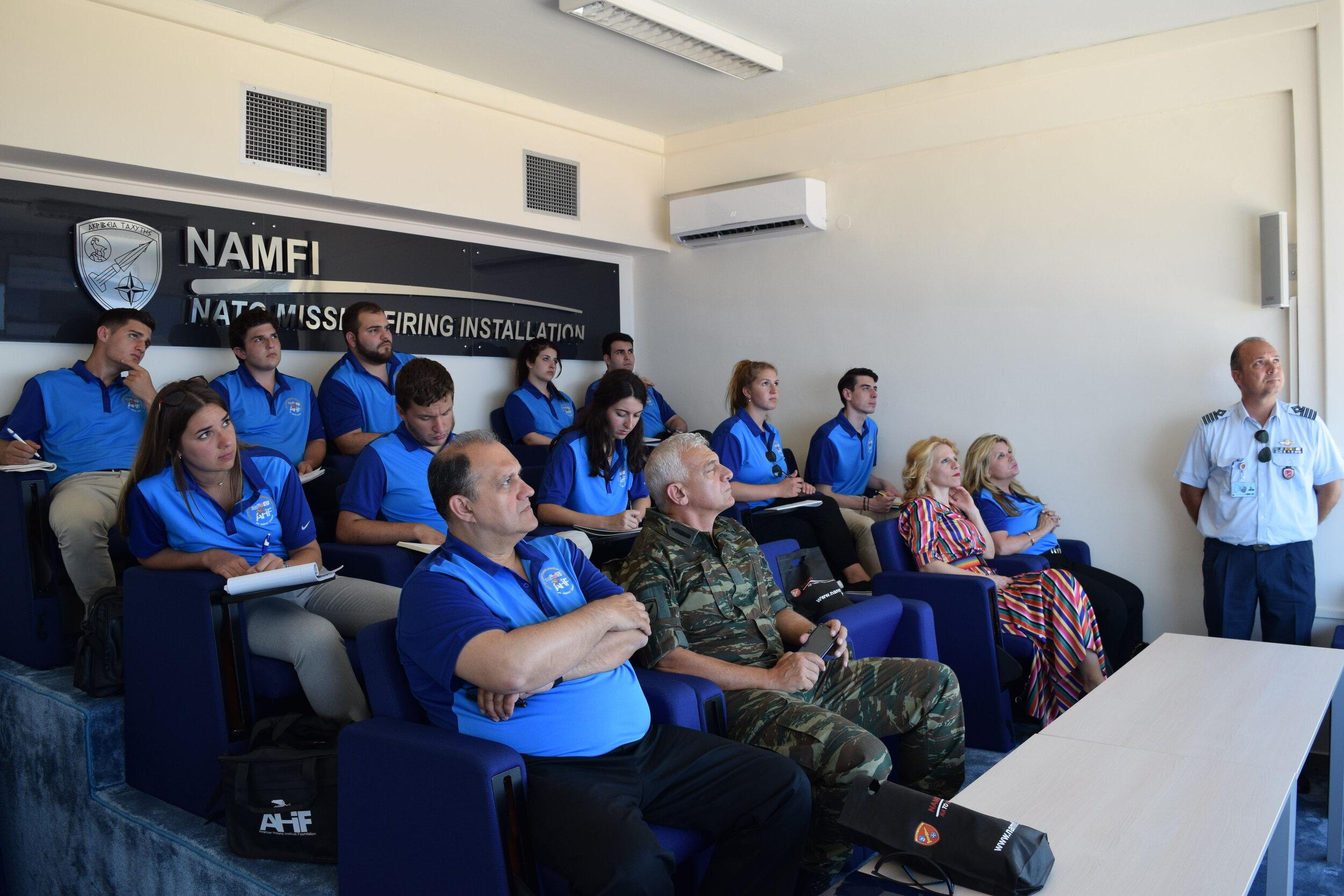 Briefing at NATO Missile Firing Installation (NAMFI)