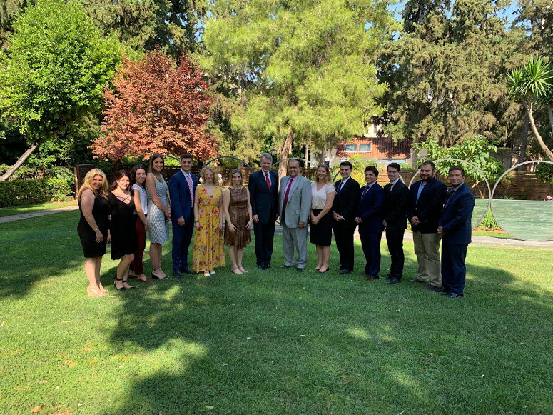 With Geoffrey Pyatt, the Ambassador of the United States to Greece, at the Ambassador's Residence