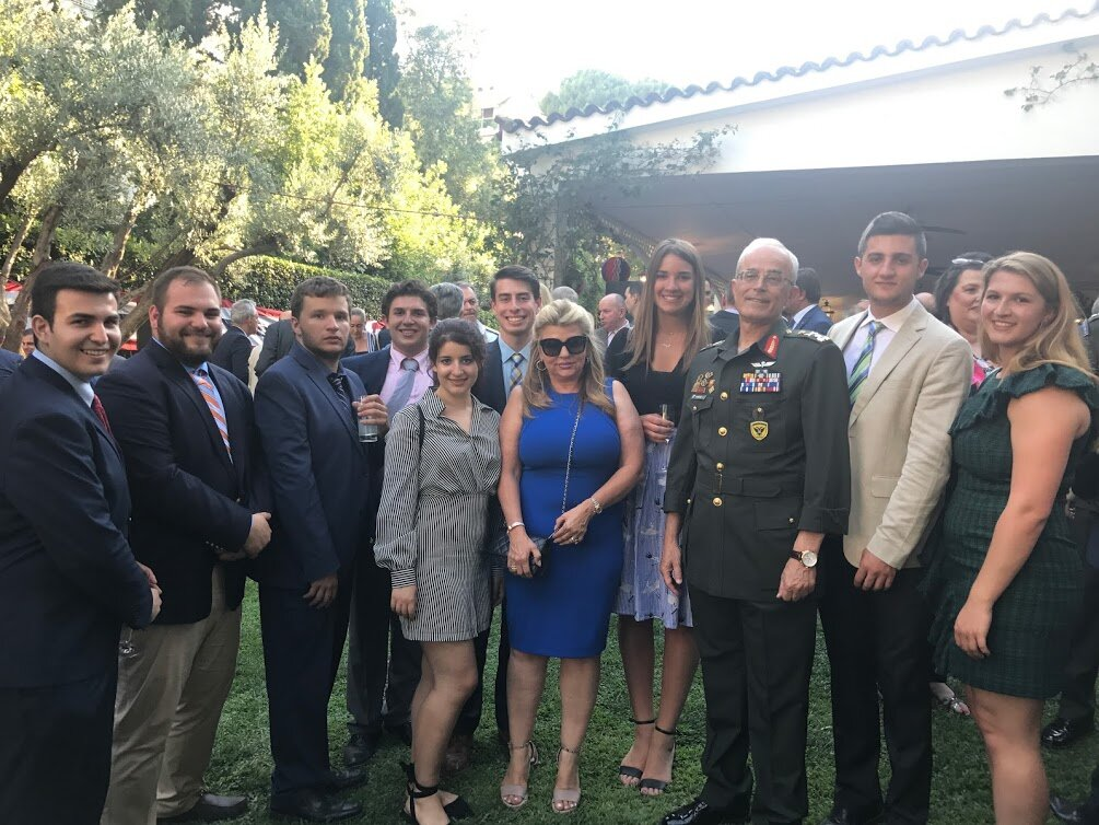 With the Chief of the Army General Staff, Lieutenant-General Georgios Kambas at the U.S. Ambassador's Residence for the 4th of July celebration
