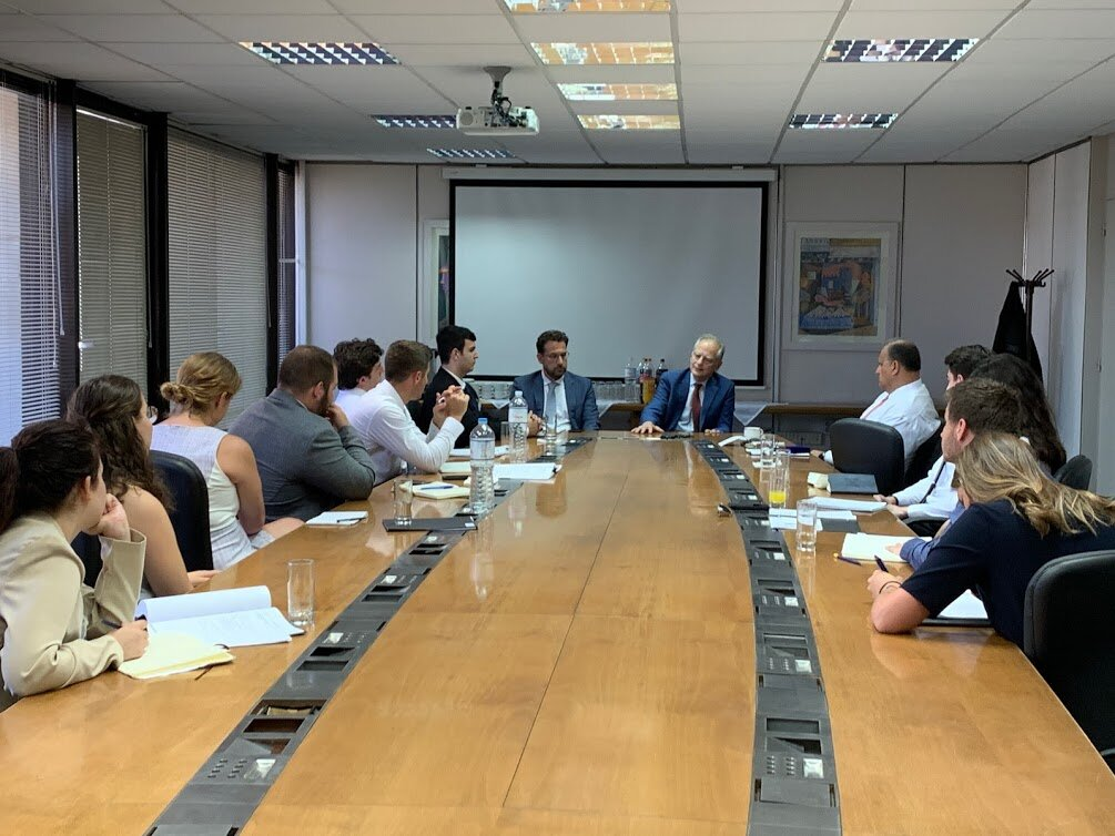 Meeting with Minister Plenipotentiary Nikos Garilidis of A4 Directorate for Turkey and Counsellor Konstantinos Kodellas of A7 Directorate for North America, at Greece's Ministry of Foreign Affairs