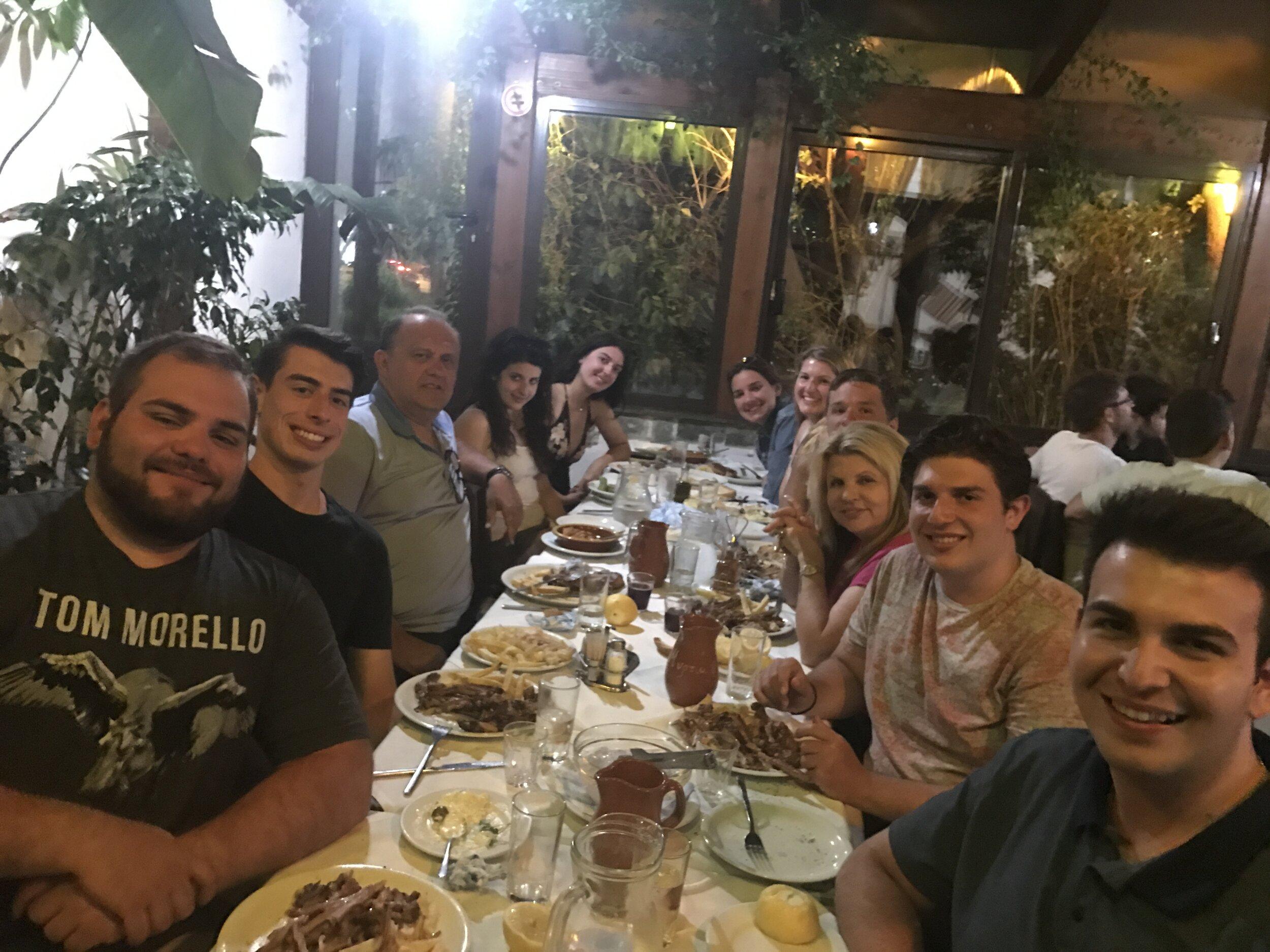 At dinner hosted by AHI board member Mr. George Mermelas at Myrtia Restauran