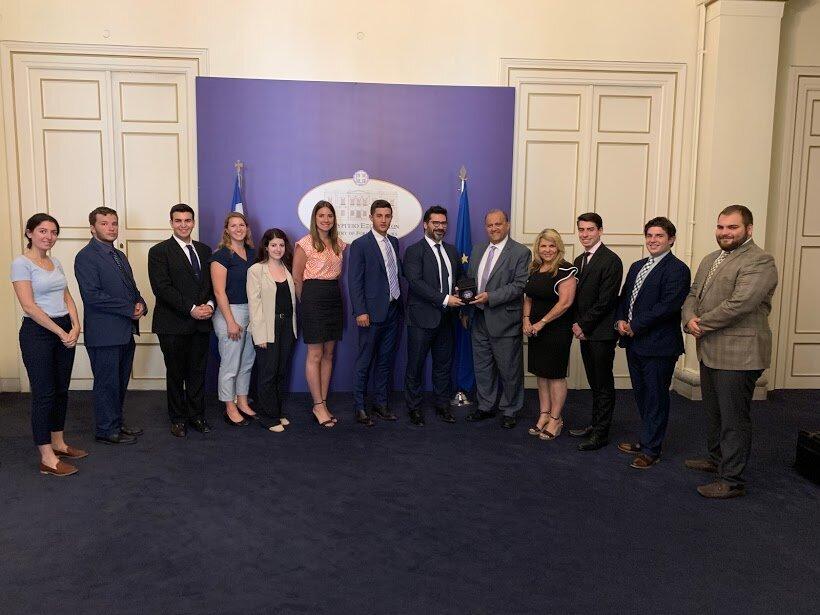 With Vangelis Kalpadakis, diplomatic adviser to Prime Minister Alexis Tsipras