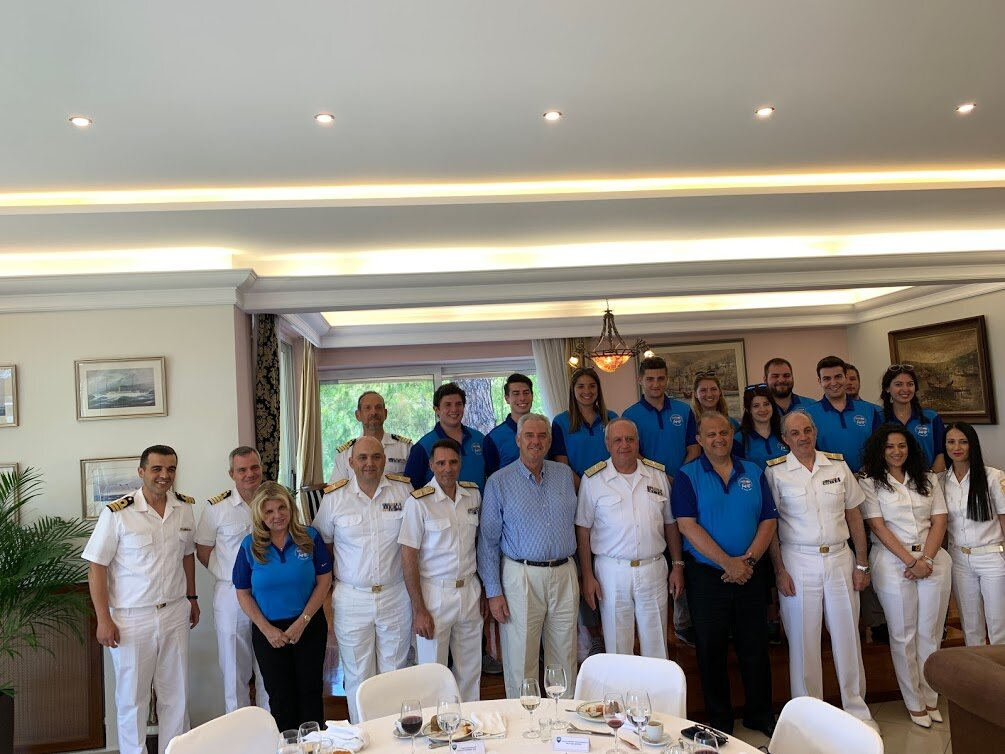 Greek Naval Fleet Commander, Vice Admiral Stylianos Petrakis hosted the students at his residence in Salamis Naval Base