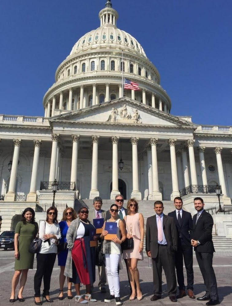 """Attending Meetings with Congressional Staff on Capitol Hill as part of the """"In Defense of Christians Capitol Hill Day""""."""