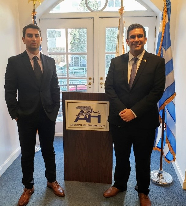 Yiannis Xenophontos (L) and John Lazarou (R), The Two Participants of the Public Policy Program Organized by UNYSA Cyprus