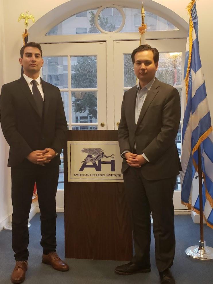 Yiannis with Elias Gerasoulis, AHI Legislative Director