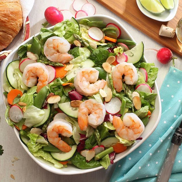 Spring shrimp salad  photography by jack mills #shrimp #salad #shrimpsalad #thinkspring #foodie #fresh #instafood #dailyfood #eatfresh #eat #instagood #tableready #beinspired  #eatwell #foodstyling  #urbanfarmhouse #boldfoodstyling
