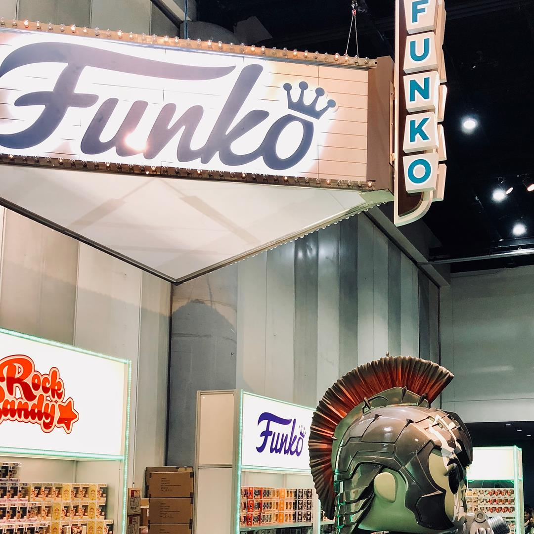 I'm not totally sure I get why Funkos are such a thing. I do know that out of our entire group, my son was the only one lucky enough to get a ticket for the booth on Thursday morning to buy them before anyone else. While he didn't buy every single one, we saw plenty of people who did. Wow.