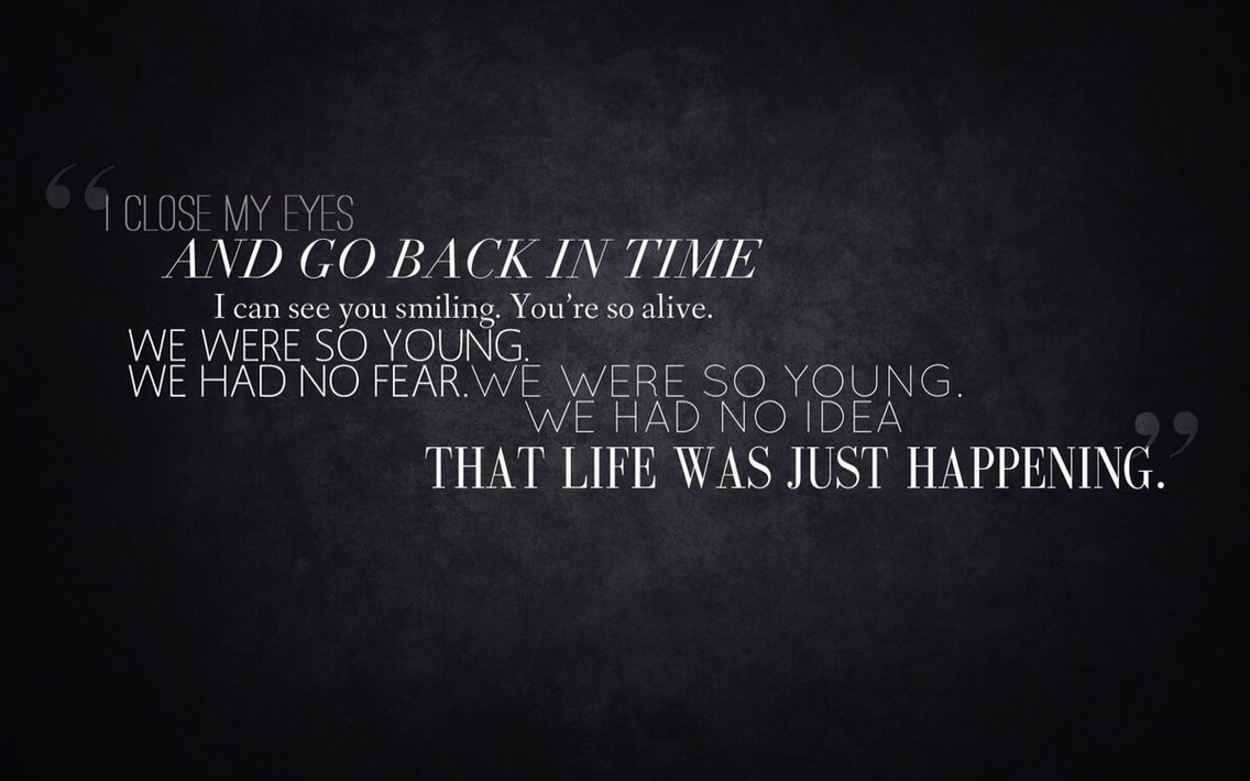 "-Switchfoot, ""Souvenirs"""