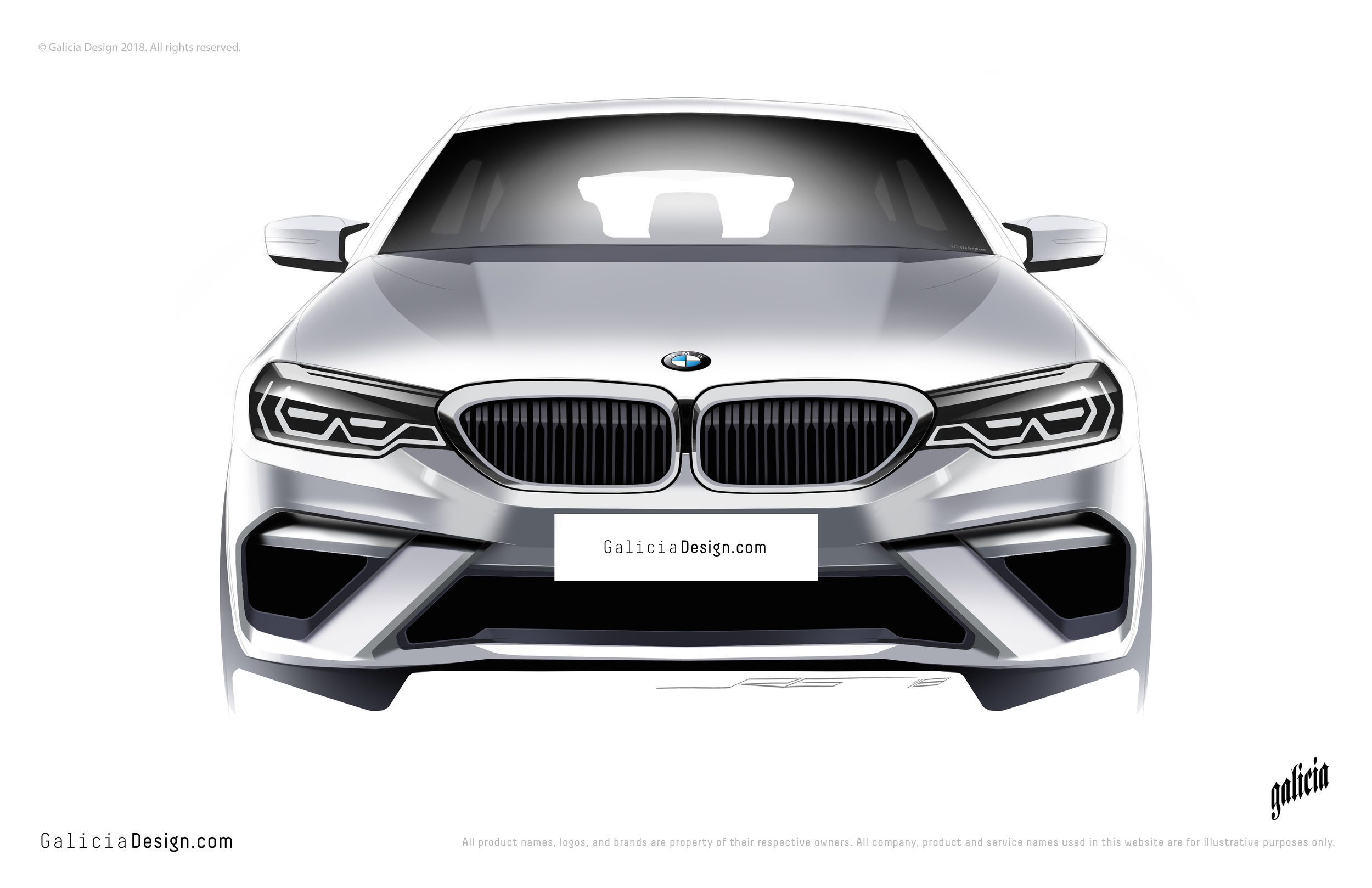 BMW 5 series - Front Fascia Redesign