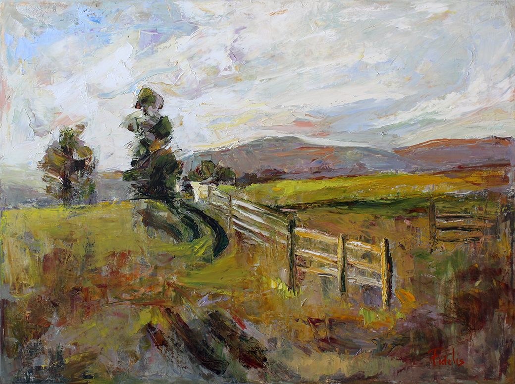 "West Virginia Morn - 40"" x 30"" - oil on canvas"