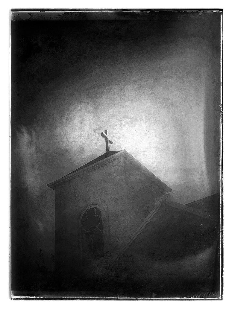 "Manhattan Steeple - 18 3/4"" x 25 1/2"" - archival digital print"