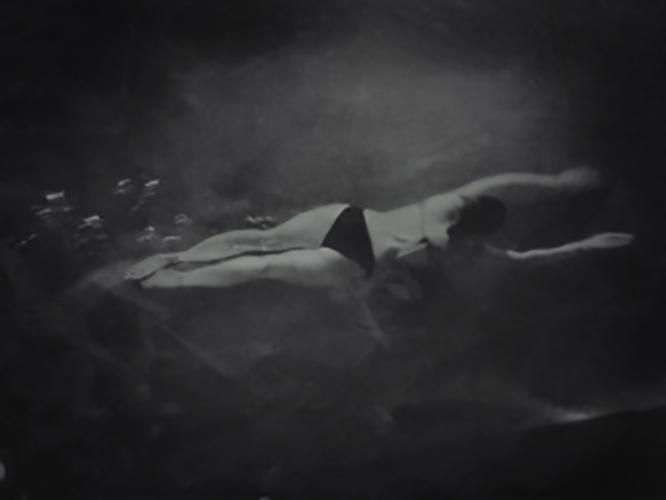 "Swimmer - 27"" x 20"" - archival digital print"