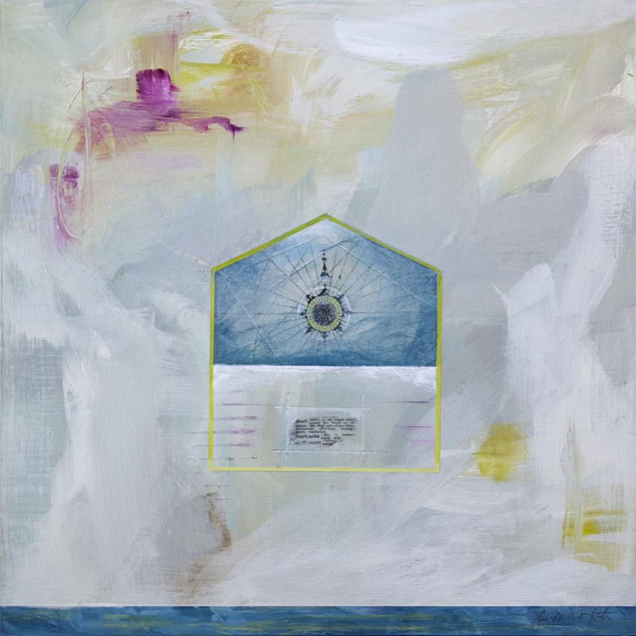 "Heart House - 12"" x 12"" - acrylic on panel"