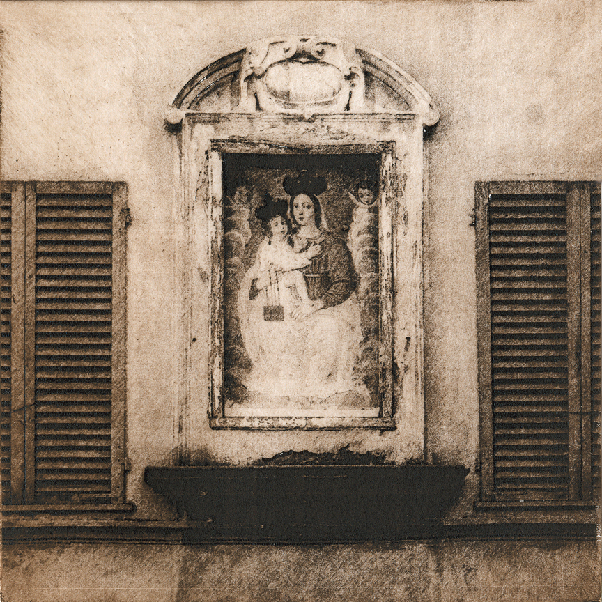 "Madonna in Lucca - 6"" x 6"" - intaglio"