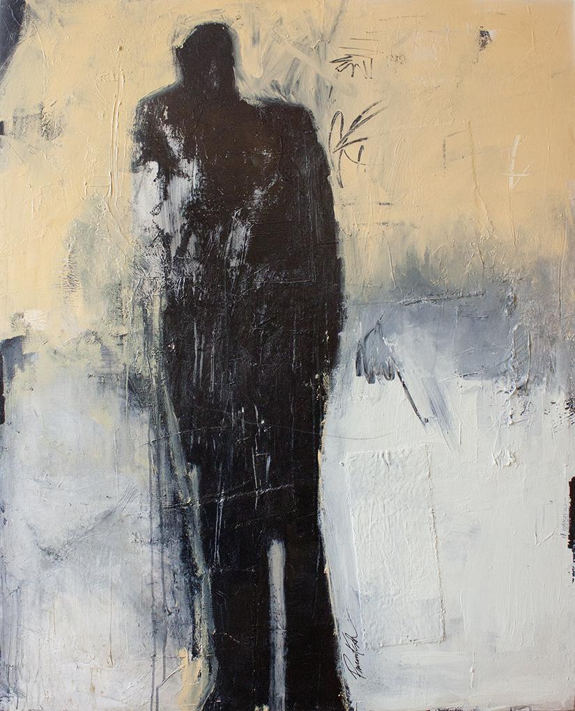 "The Jazz Man - 36"" x 48"" - mixed media on canvas"