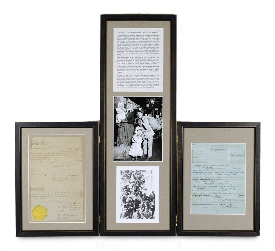 Custom framing - hinged triptych