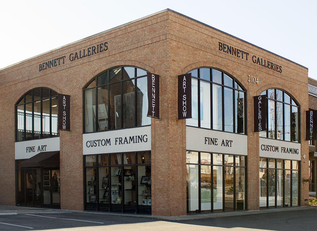 Our two-story gallery and frame shop is in Green Hills