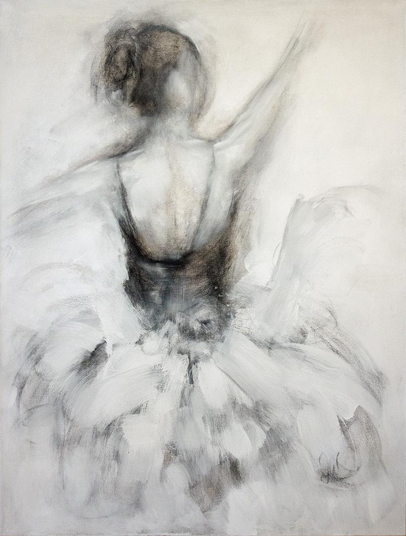 "Fleeting Moment - 36"" x 48"" - mixed media on canvas"