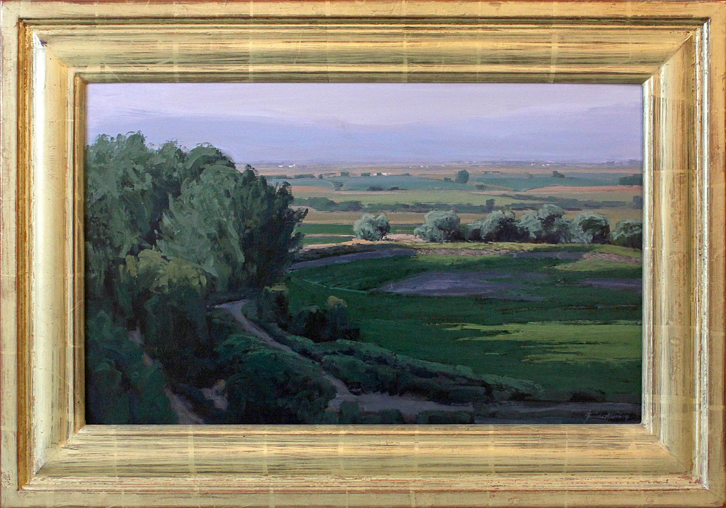 "Dry Pond (Strait's Pond, Spring City, UT) - 24"" x 15"" - oil and acrylic on panel"