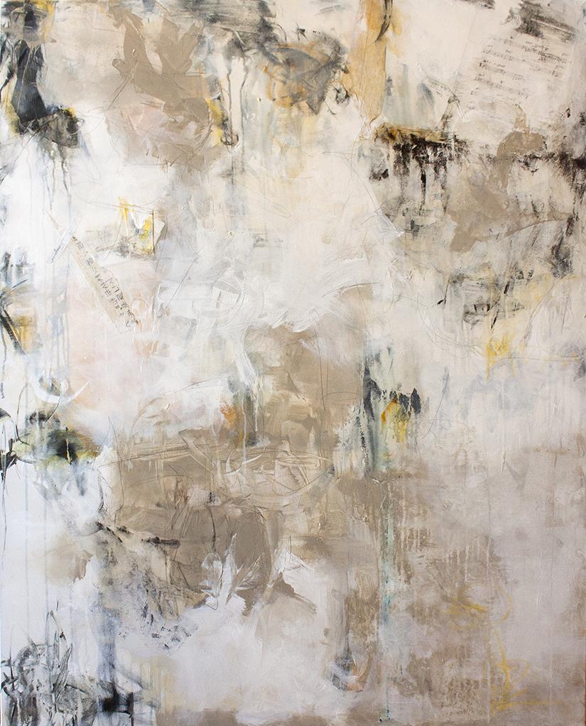 """Etude - 48"""" x 60"""" - acrylic on canvas"""