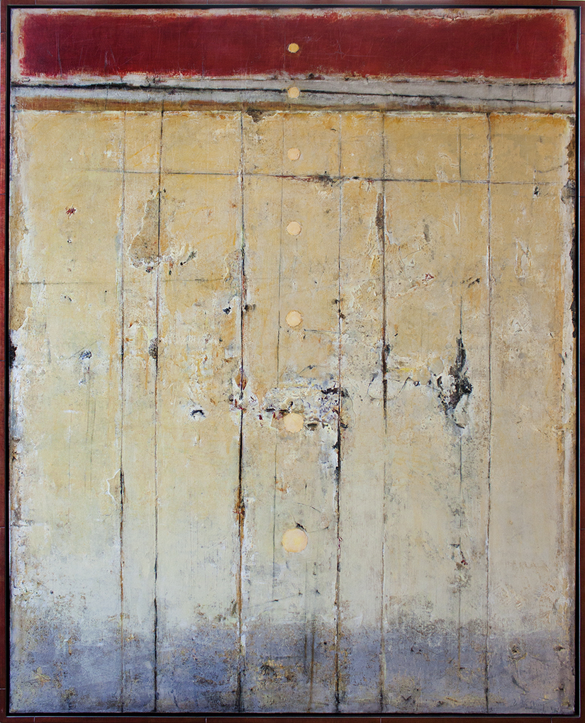 """SOLD Ascending Orbs 2 - 48"""" x 60"""" - mixed media on canvas"""