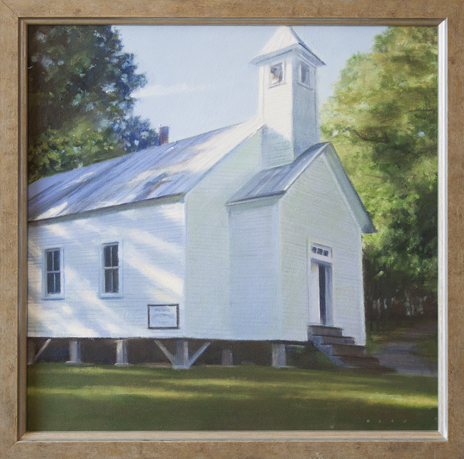 """Afternoon Light, Cade's Cove, TN - 18"""" x 18"""" - oil on canvas"""