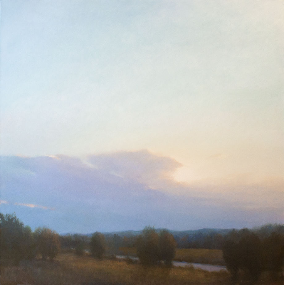 """Distant Storm - 40"""" x 40"""" - oil on canvas"""