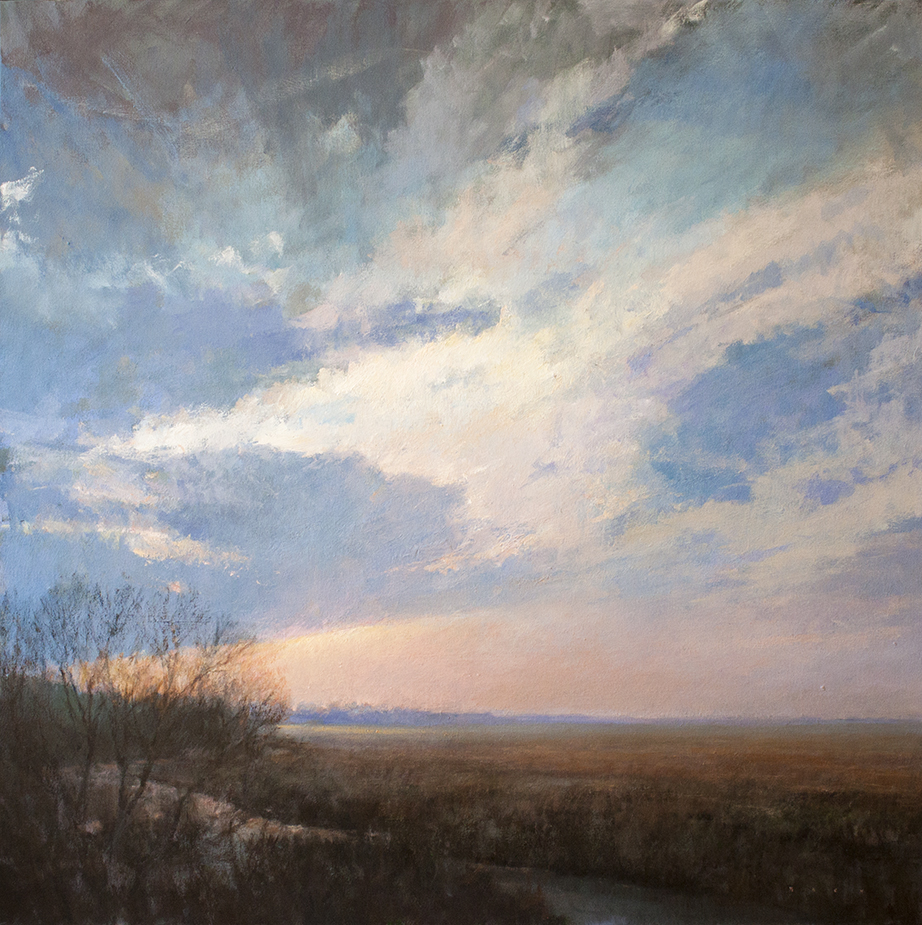 """Clearing - 40"""" x 40"""" - oil on canvas"""