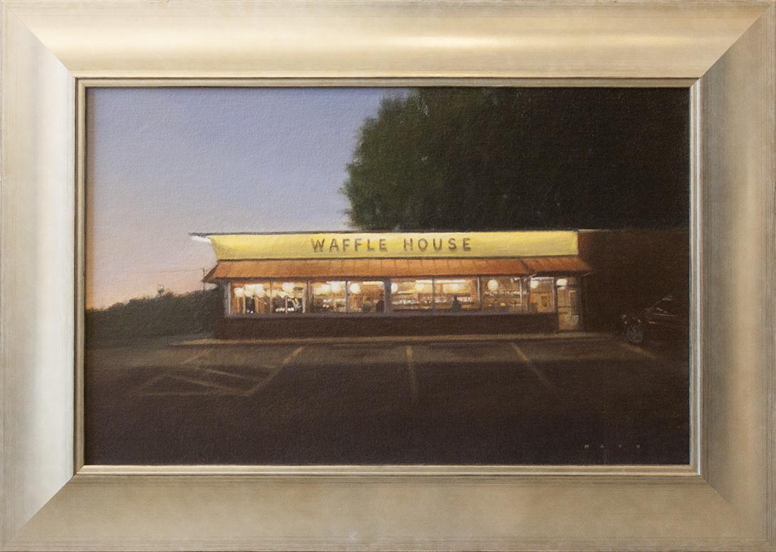 """Waffle House - 19"""" x 11 1/2"""" - oil on canvas"""