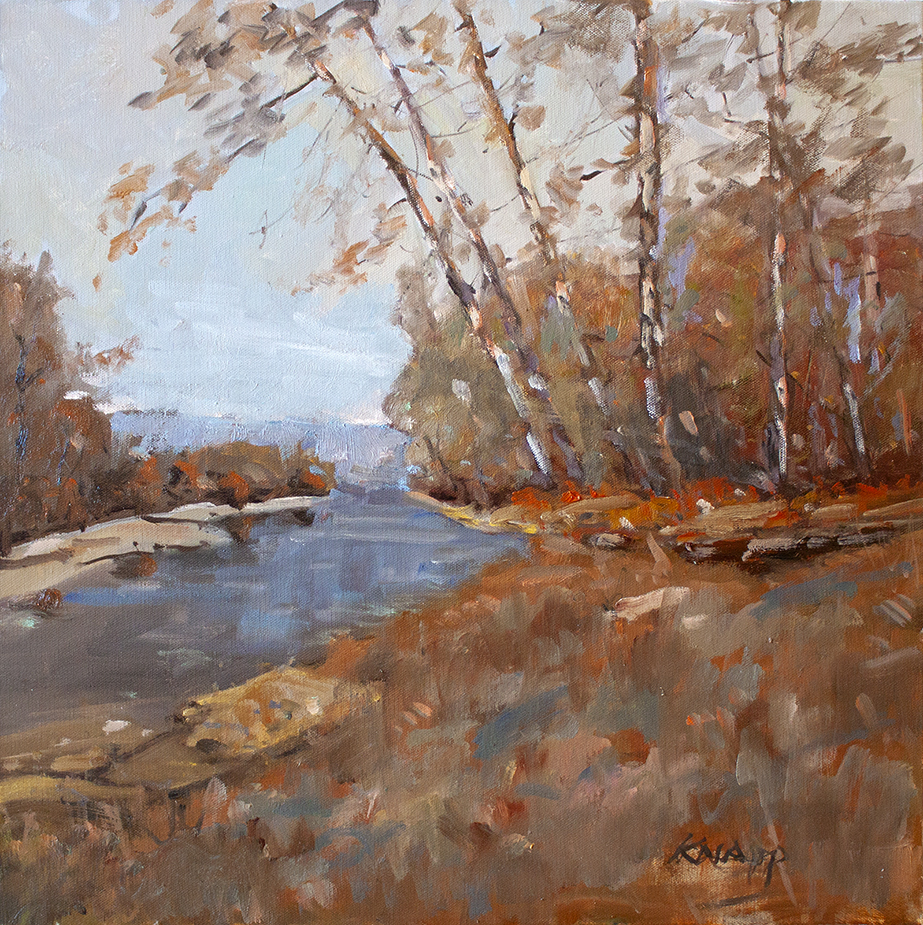 "Autumn Cove - 20"" x 20"" - oil on canvas"