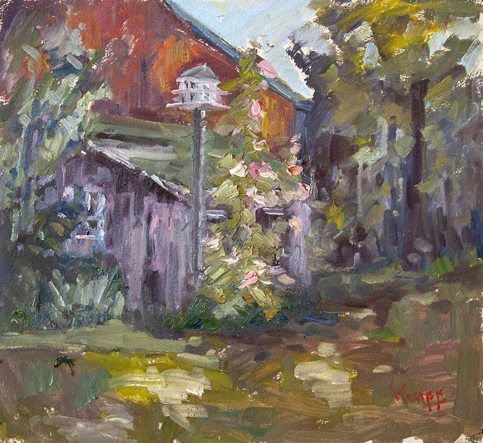 "Birdhouse - 20"" x 20"" - oil on panel"