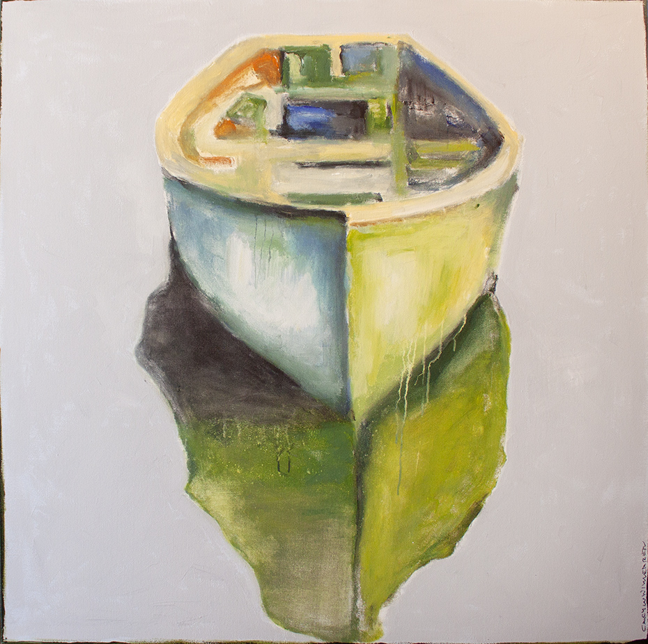 """On My Side - 48"""" x 48"""" - oil on canvas"""