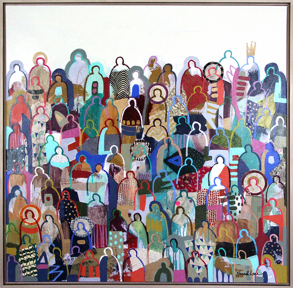 "Winter Solstice Crowd - 48"" x 48"""