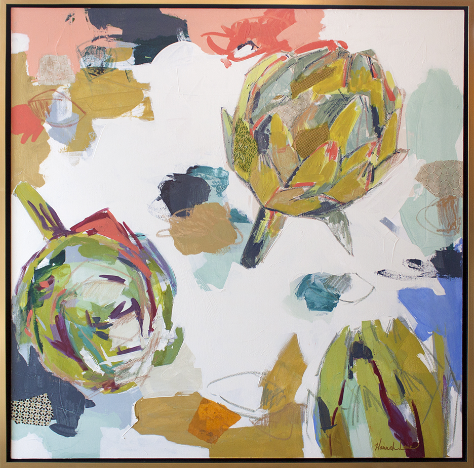 "Pop of Artichokes - 48"" x 48"""