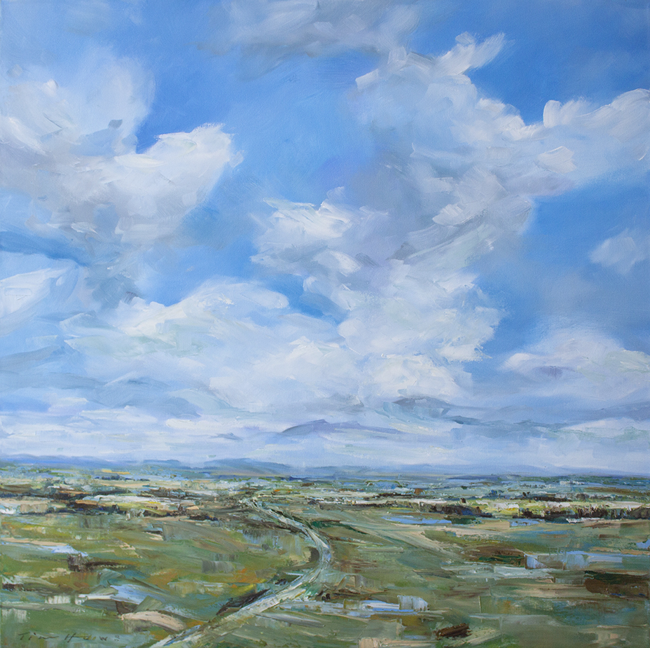 "Beyond the Blue Skies - 36"" x 36"" - oil on canvas"