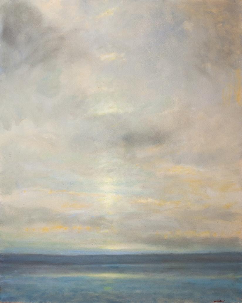 "Coastal Clouds - 40"" x 50"""