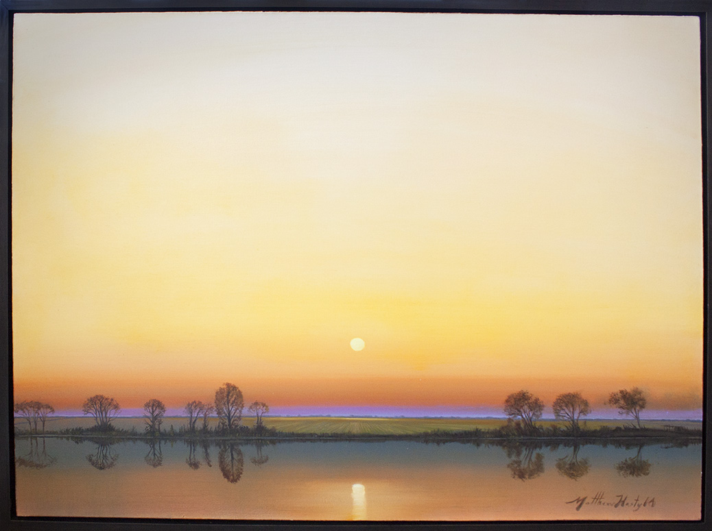 """Morning Reflections - 48"""" x 36"""""""