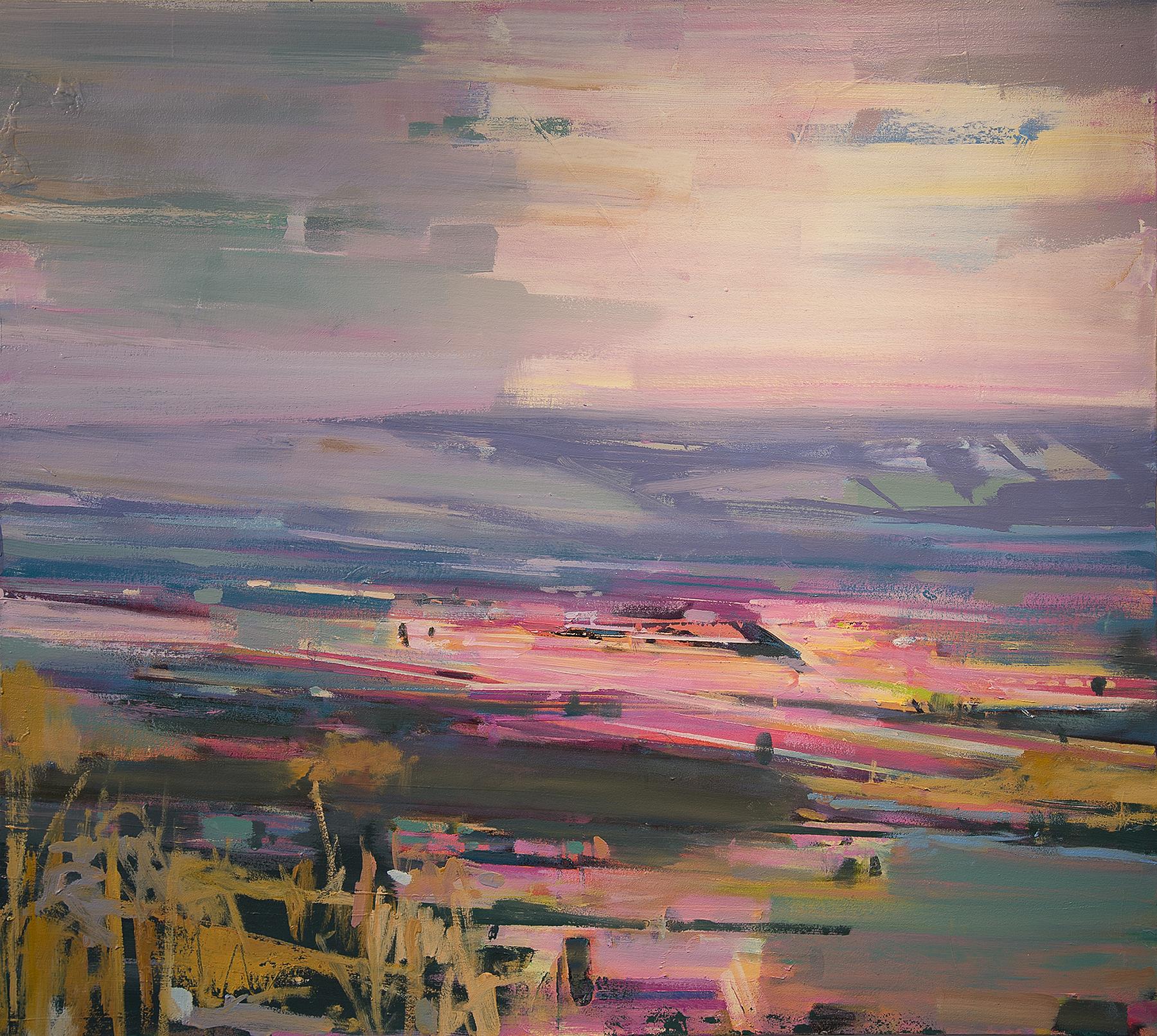 "Sunset Over Galillee - 50"" x 45"""