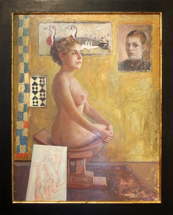 "The Artist's Studio - 28"" x 36"" - oil on canvas"