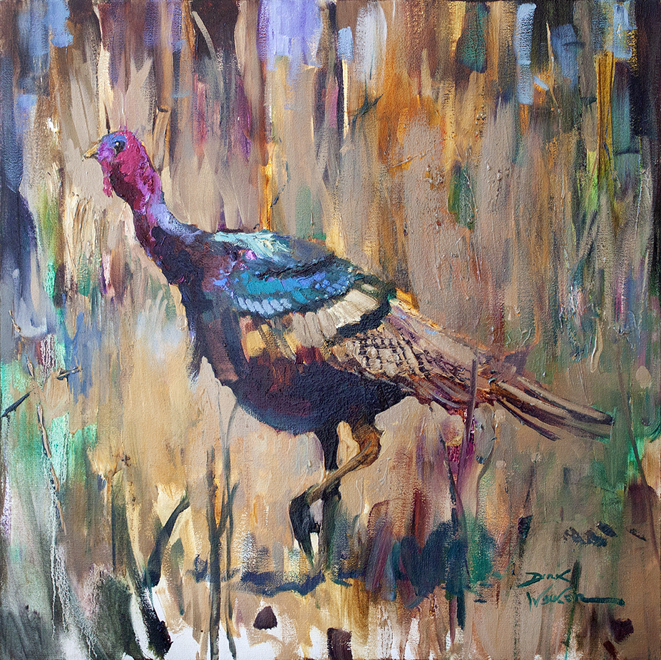 "Wild Turkey - 24"" x 24"" - oil on canvas"