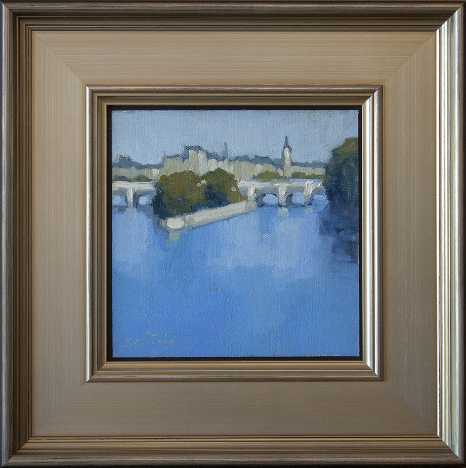 """The Heartbeat of Paris - 8"""" x 8"""" - oil on panel"""