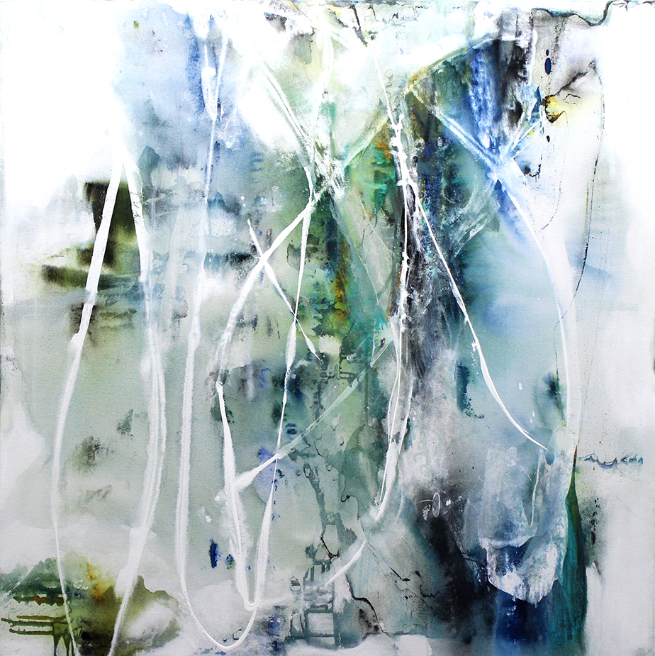 "Reflections - 48"" x 48"" - acrylic on canvas"